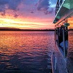 A gorgeous sunset on Lake Cooroibah onboard for the Sunset Dinner Cruise