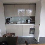 Kitchen partially open