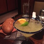 Loaf of Honey Wheat Bread and a Margarita.