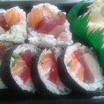Sashimi Roll with tuna, salmon, & yellowtail