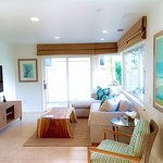 Villa Lanai Living Room Features Large Screen TV