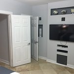 TV in bedroom and closet
