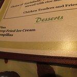 Interesting desserts especially the deep fried ice cream