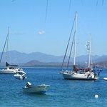 sailboats anchored at Isla Ixtapa