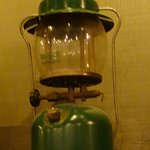 This is the first Coleman lantern I've seen at a Cracker Barrel !