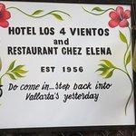 Chez Elena plaque to greet you