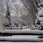 Todd Lamb Photography- Looking down the snow covered street