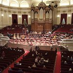 from balcony before concert