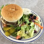 Mushroom and Swiss Burger at Diamond C.