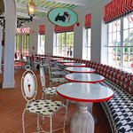 Sadie's Ice Cream Parlor, open daily to all Mackinac Island visitors.