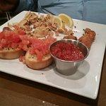calamari, fried mozz, bruschetta