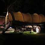 Night time view of the Wagon