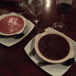 guava and chocolate creme brulee