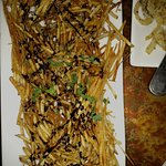 french fries with balsamic glaze kinds sweet for having with steak