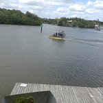 Gator Wrap while sitting on the second level, watching air-boats