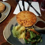 Chicken, chorizo and cider pie