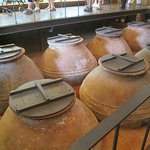 Storage Jars for the olive oil inside the Olive Oil Museum