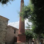 The Chimney in the courtyard at the Olive Oil Museum