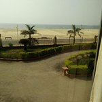 View of the beach from room