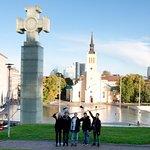 Group enjoying the old town of Tallinn