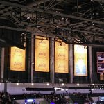 proud champioship banners and retired jerseys
