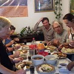 Guests enjoying a delicious meal at Sis-B B & B after the Sunday Gospel Tour