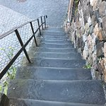 Steps to walk to exhibitor hall