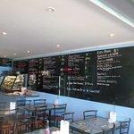 Waterfront Cafe menu board