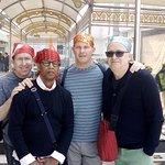 Graham with his friends at Gurudwara Sis Ganj