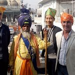 Sweet memories when we took our friends to Gurudwara Sis Ganj