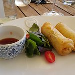 These curried hake spring rolls blew me away!
