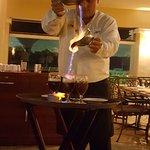 Luis making Mayan coffee at Fraggatta!