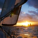 sunset sailing picture