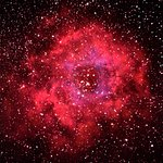 Rosette Nebula in Orion from the Parador by Stephen Heliczer