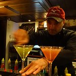Emil working on the Martini and Cosmopolitans.