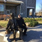 Outside the Visitor's Center talkng with President Lincoln before his Gettysburg Address Speech