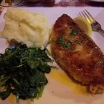 Sweet potato encrusted swordfish, that spinach was awesome too.