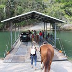 The hand cranked ferry ride with your horse!
