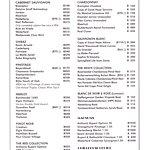 GH Menu Wine List