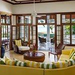 Living room of the 4 bedroom villa Almond