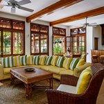 Living room & bar of the 5 bedroom villa Cotton