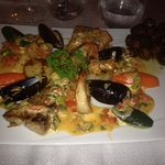 This was a mixed seafood special. A nice mix of shrimp, scallops, mussels, salmon and mahi mahi!