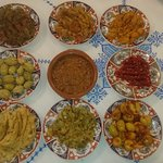 Fes style Moroccan salads