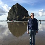 Haystack Rock, steps from our suite