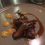 Roast Exmoor Venison, parsnip, pancetta, red wine jus