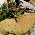 French Omelette fines herbes / whipped chèvre / butter gem lettuce salad