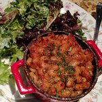 Lunch Cassoulet garlic sausage / duck confit / house ham / braised white beans / small salad