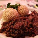Teriyaki chicken, brown rice
