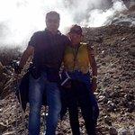 Caminata a fumarolas de volcán viejo de Chillan.