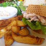 Lovely prawn sandwich (slightly eaten!!)